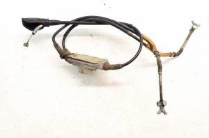 Kawasaki - 03 Kawasaki Bayou 250 2x4 Front Brake Cables & Adjuster KLF250 - Image 2